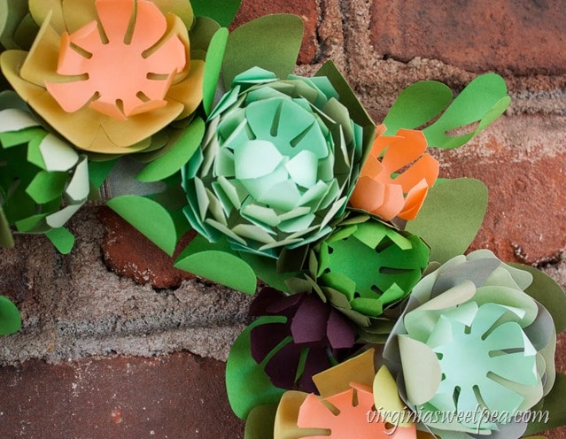 DIY Faux Succulent Wreath from Paper