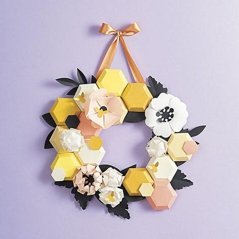 Honeycomb Wreath