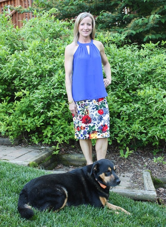 May 2017 Stitch Fix Review - Papermoon Garland Keyhole Halter Blouse with Pixley Eva Floral Skirt - virginiasweetpea.com