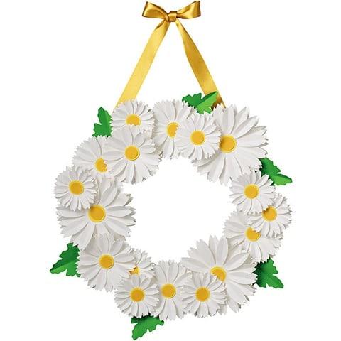 White Daisy Wreath Kit