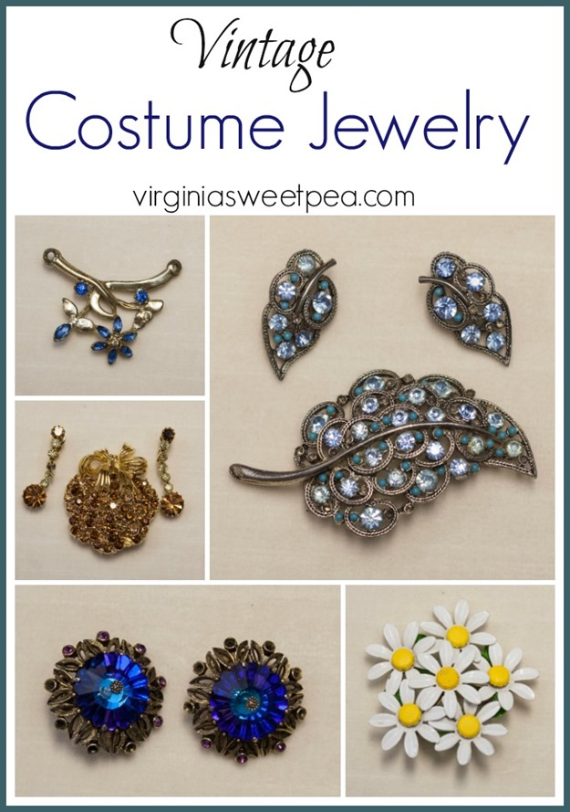 Vintage Costume Jewelry - See a collections of costume jewelry from the 1950's to the 1970's. virginiasweetpea.com
