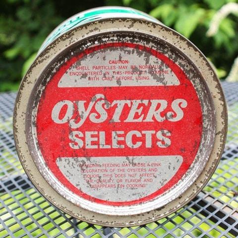 Vintage Bevans Fresh Oysters Can - virginiasweetpea.com