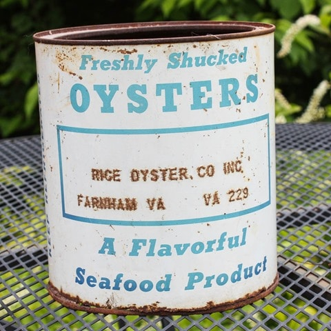 Vintage Rice Oyster Company Oyster Can
