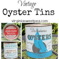 Vintage Monday–Oyster Cans
