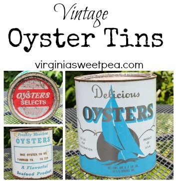 Vintage Oyster Cans
