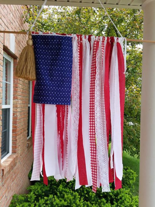 DIY American Flag from Ribbons