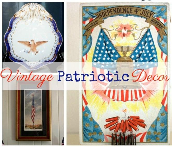 Vintage monday patriotic decor sweet pea