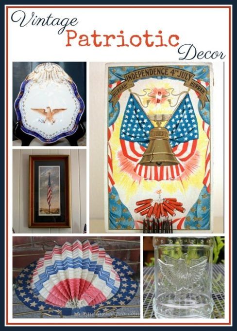 Vintage Patriotic Decor - A collection of Americana, some of which is over 100 years old. virginiasweetpea.com
