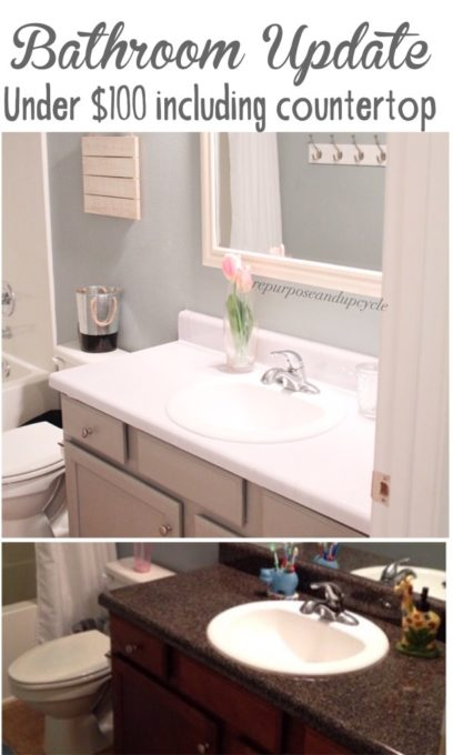 How to Update a Bathroom for Under $100