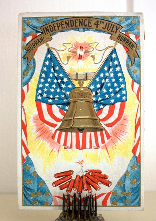 4th of July Post Card from 1907 - virginiasweetpea.com
