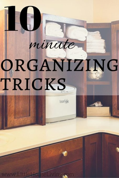10 Minute Organizing Tips