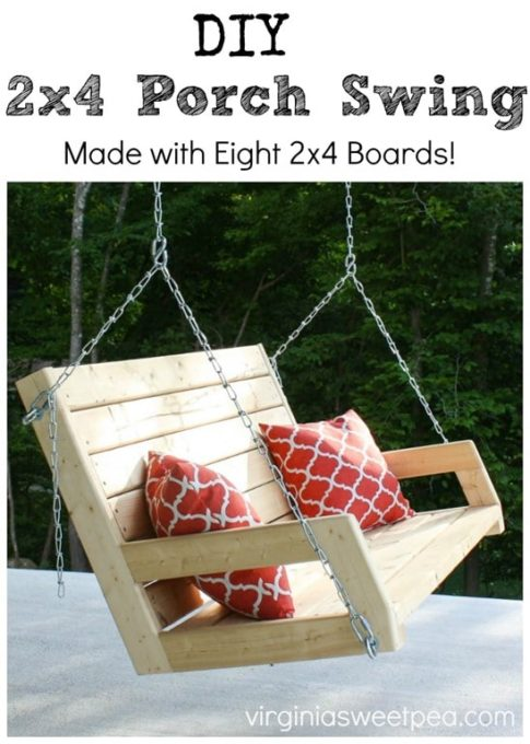 DIY 2x4 Porch Swing - virginiasweetpea.com