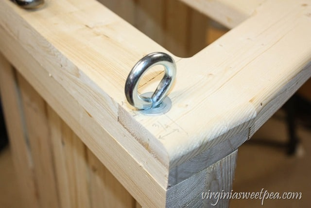 How to Make a DIY 2x4 Porch Swing - Get the step-by-step directions at virginiasweetpea.com