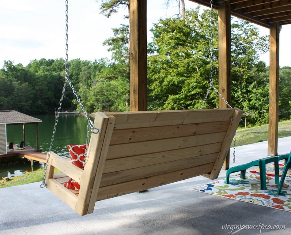 Diy 2x4 porch swing sweet pea for Build porch swing plans