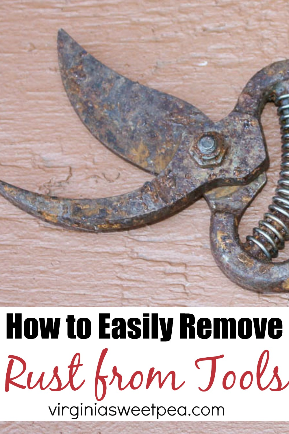 How to Easily Remove Rust from Tools - Follow these easy steps to remove rust from tools.   via @spaula