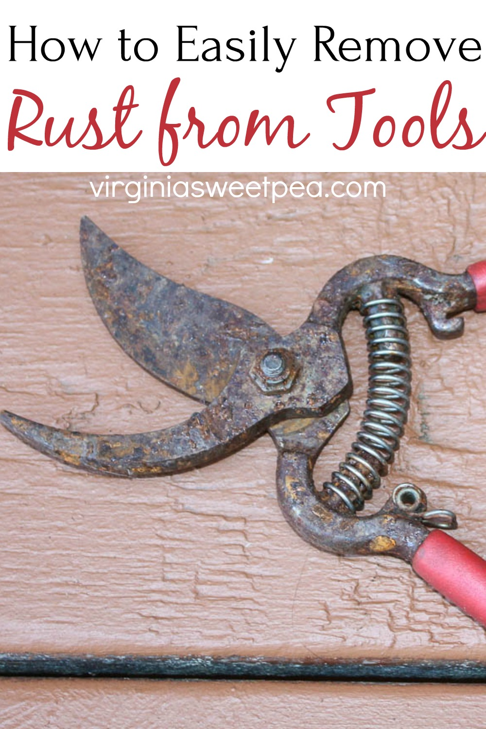 How to Easily Remove Rust from Tools - Make your rusty tool look like new by removing rust following this step-by-step tutorial. via @spaula