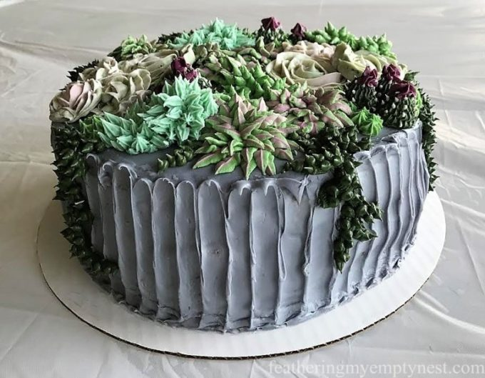 How to Make a Succulent Cake