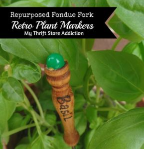Fondue Forks Upcycled to Plant Markers