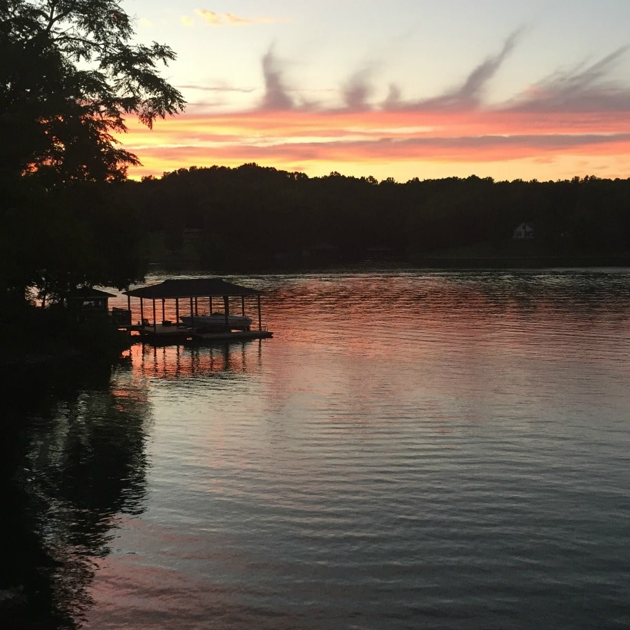 Sunset at Smith Mountain Lake
