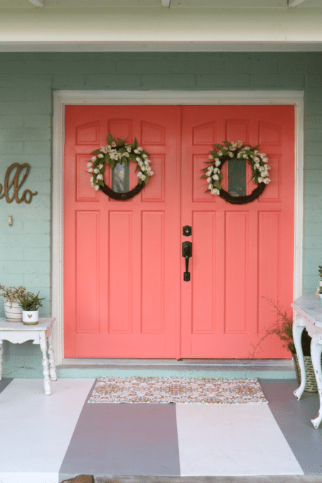Front Door Painted with DecoArt Curb Appeal Paint