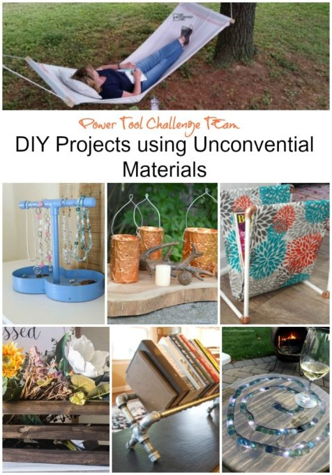 DIY Projects Using Unconventional Materials - Get ideas for projects that you can make for your home using unconventional supplies. virginiasweetpea.com