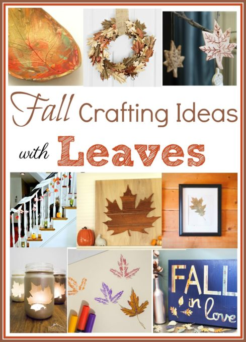 Fall Crafting Ideas with Leaves - Get ideas for crafts that you can make for your home featuring leaves. virginiasweetpea.com