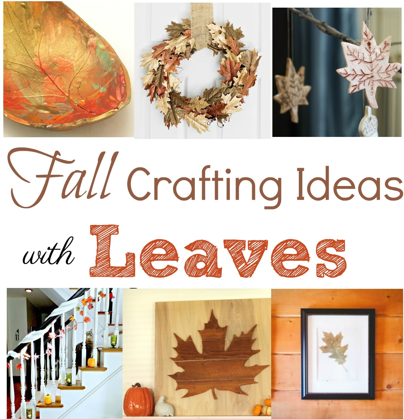 Fall Crafting Ideas with Leaves - Get ideas for leaf inspired craft projects that you can make for your home. virginiasweetpea.com