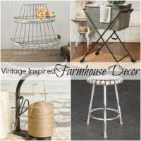 Vintage Inspired Farmhouse Decor
