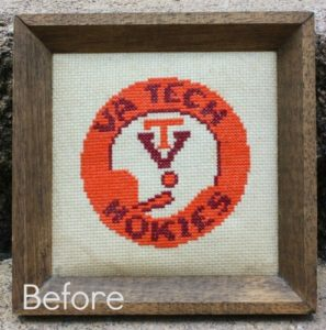 How to Clean a Cross Stitch Picture