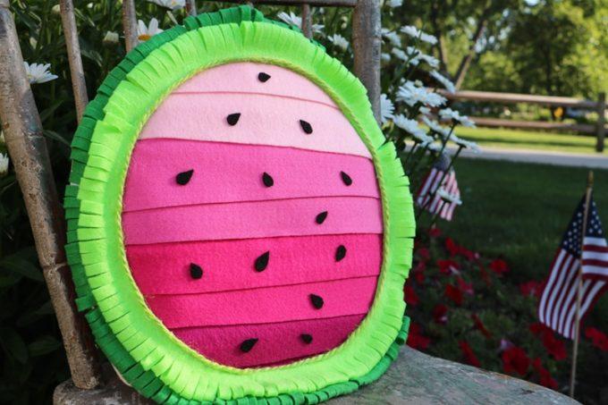 How to Make a Watermelon Felt Pillow