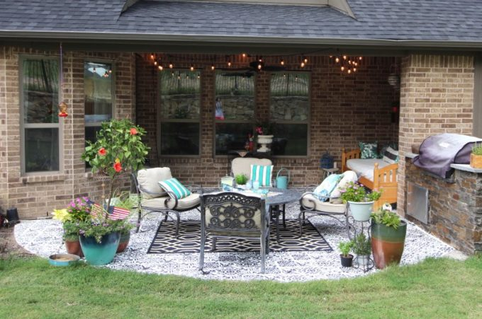 How to Stencil a Patio