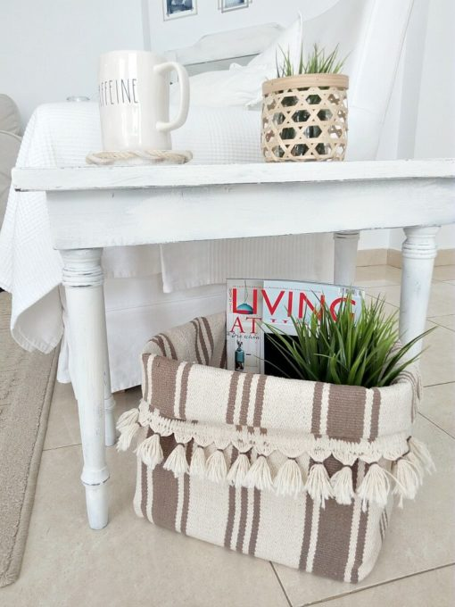 How to Make a Basket Using Two Rugs