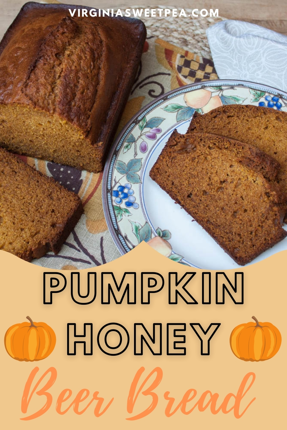Perfect for fall, this bread combines the taste of pumpkin, honey, and beer into one yummy fall treat. via @spaula
