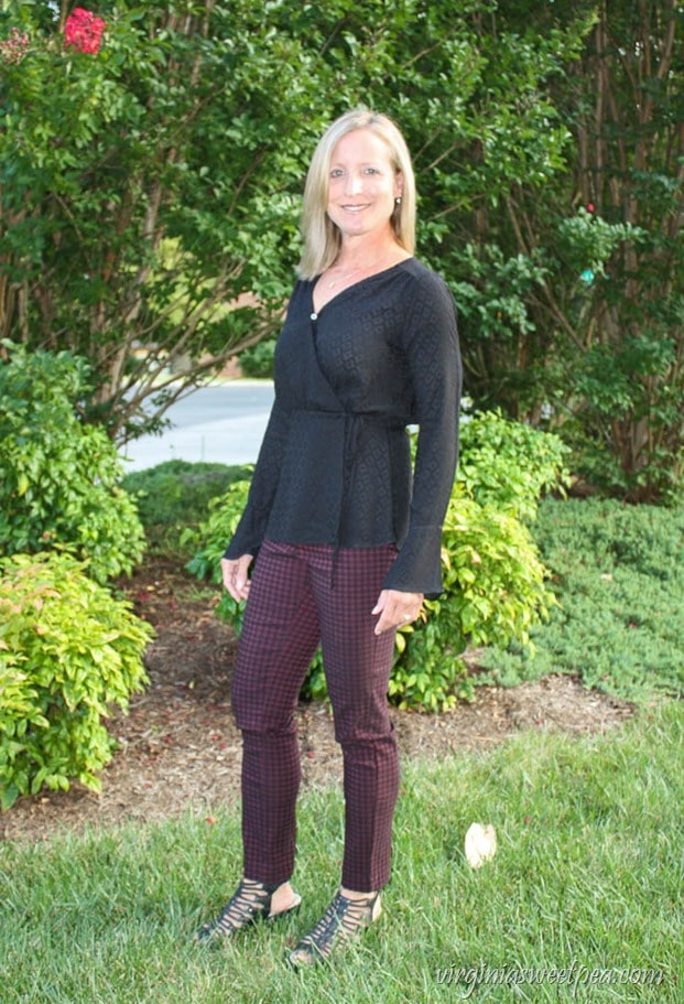 Stitch Fix Review - September-2017 - Honey Punch Paron Bell Sleeve Wrap Top - virginiasweetpea.com