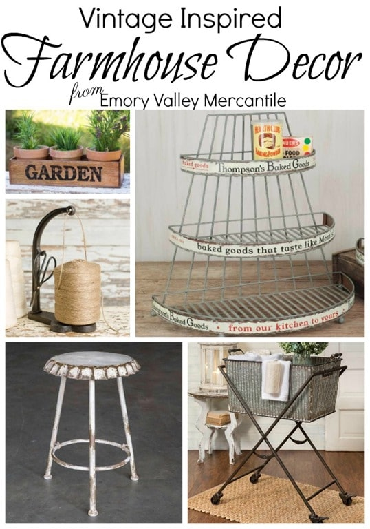 Vintage Inspired Farmhouse Decor from Emory Valley Mercantile - virginiasweetpea.com