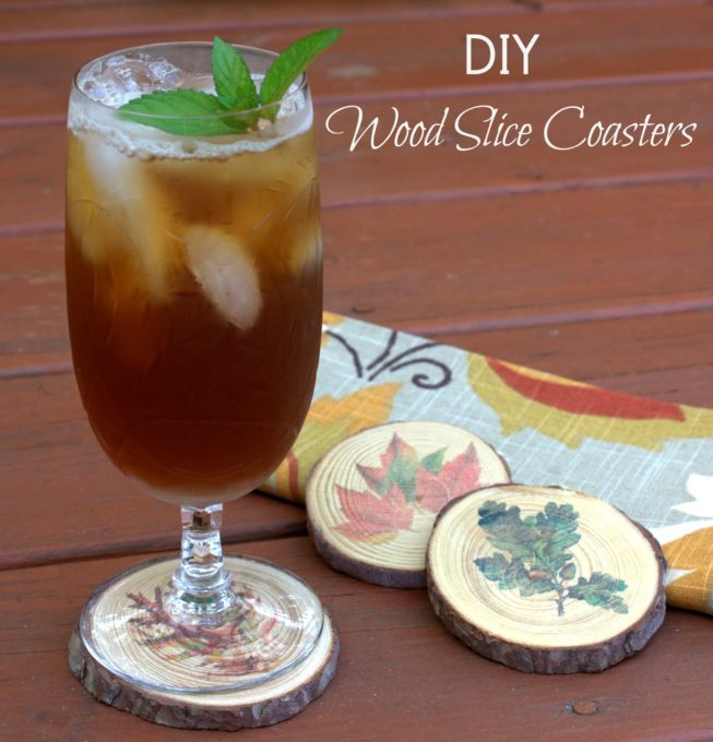 DIY Wood Slice Coasters for Fall