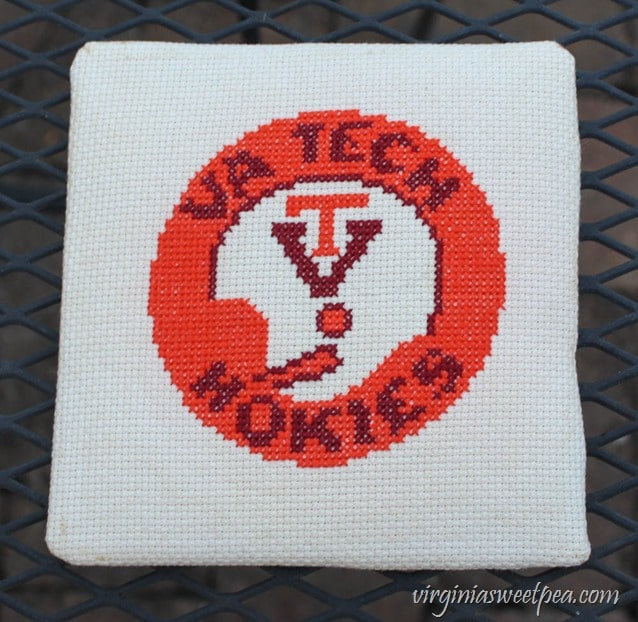 How to Clean a Cross Stitch Picture - Picture is Clean and Ready to Put Back in the Frame - virginiasweetpea.com