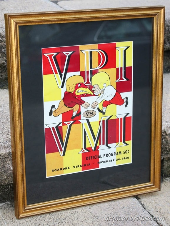 VPI vs VMI Football Program from November 24, 1960 - virginiasweetpea.com
