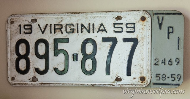 1959 Virginia License Plate with VPI on the Side