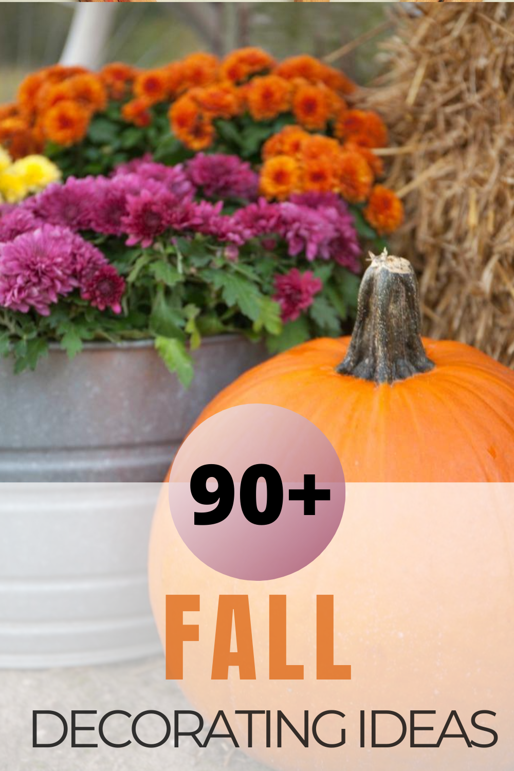Thinking about decorating your home for fall? Check out 90+ fall decorating ideas shared by a group of home decor bloggers. You are sure to be inspired!  #fallideas #falldecorating #fallhomedecor via @spaula