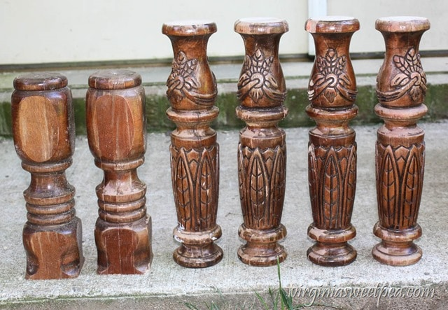 How to Make Candlesticks from Bedposts - A step-by-step tutorial - virginiasweetpea.com