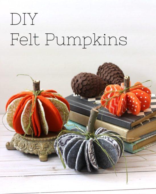 Easy DIY Felt Pumpkins