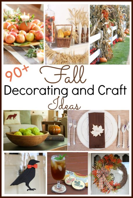 Fall Decorating and Craft Ideas - Get over 90 ideas for decorating your home inside and outside for fall. virginiasweetpea.com