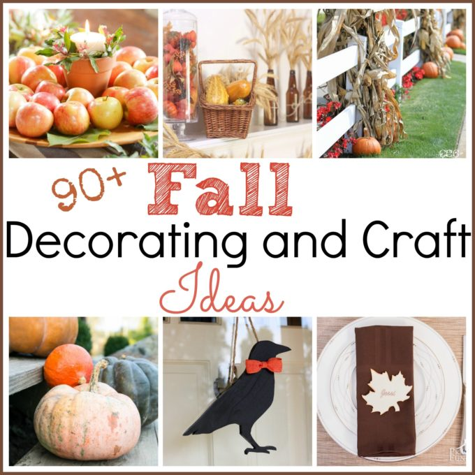 all Decorating and Craft Ideas - Get over 90 ideas for decorating your home inside and outside for fall. virginiasweetpea.com