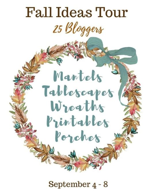 Fall Ideas Tour - 25 Bloggers Share Ideas for Decorating Your Home for Fall
