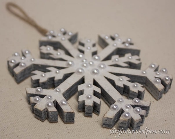 How to Make a Sparkling Snowflake Christmas Ornament