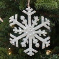 Sparkling Snowflake Christmas Ornament