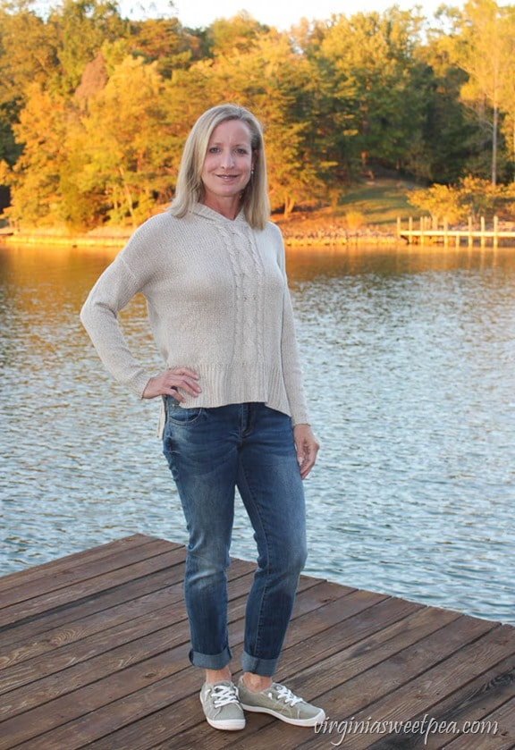 Stitch Fix Review for October 2017 - RD Style Huggins Cable Knit Detail Pullover - virginiasweetpea.com