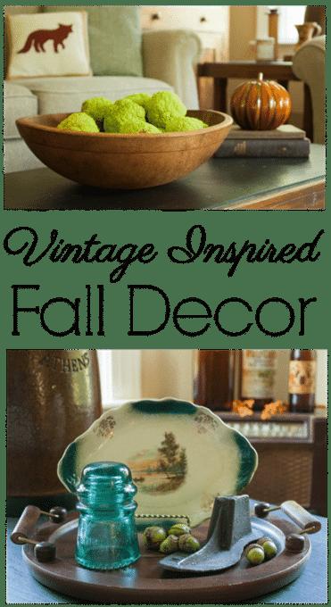 Vintage Inspired Fall Decor - virginiasweetpea.com