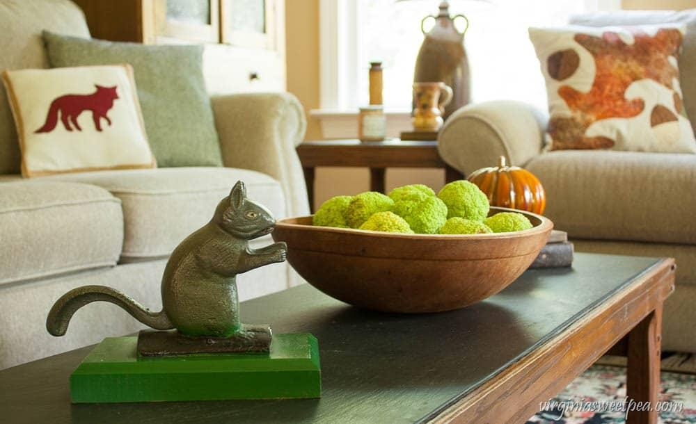 Fall Coffee Table Vignette Virginiasweetpea